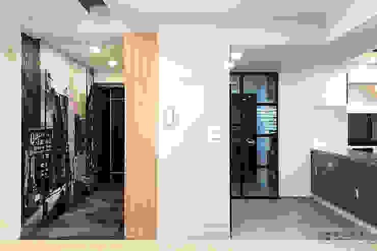 富立DC休閒會館 隨意取材風玄關、階梯與走廊 根據 寬森空間設計 隨意取材風 磁磚