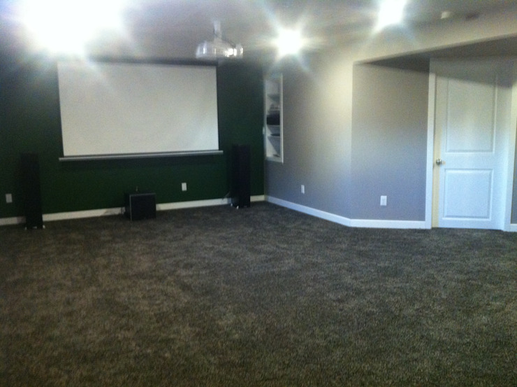 Rec room / media room KGR Renovations