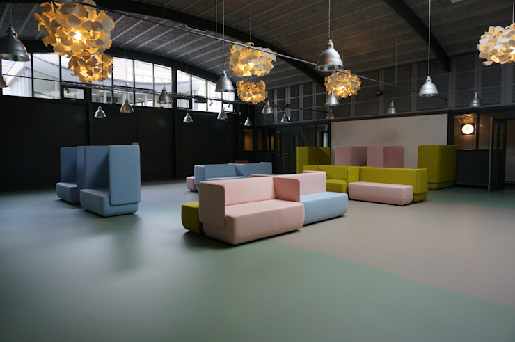 akoestische lampen van green furniture Eclectische kantoorgebouwen van AID Interieur Architecten Eclectisch