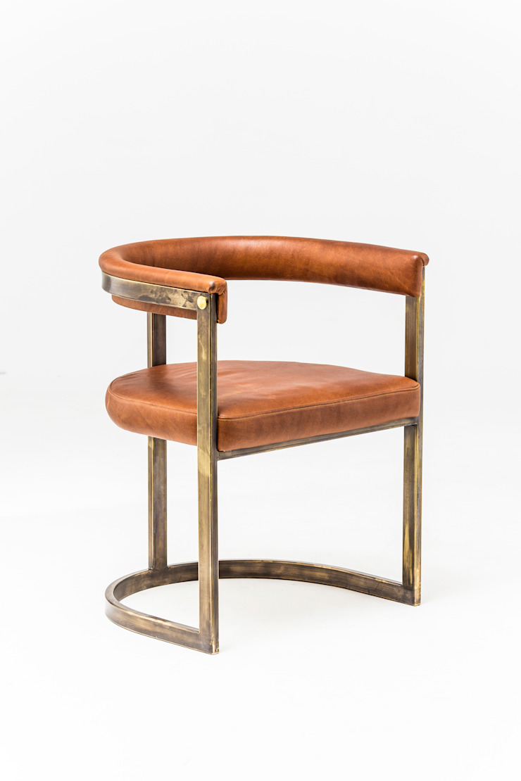 Agate dining chair: modern  by Egg Designs CC, Modern Copper/Bronze/Brass