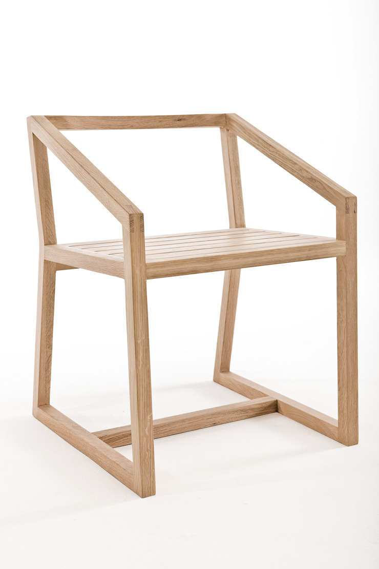 Little miss fat open back dining chair: modern  by Egg Designs CC, Modern Wood Wood effect