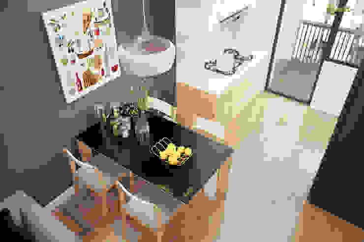 Bếp và bàn ăn: hiện đại  by Công ty TNHH Thiết kế và Ứng dụng QBEST, Hiện đại