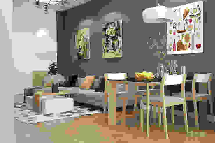 Phòng khách: hiện đại  by Công ty TNHH Thiết kế và Ứng dụng QBEST, Hiện đại