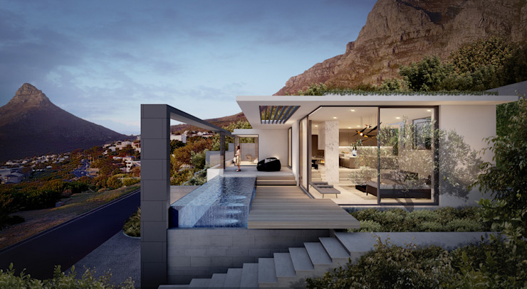 Camps Bay House 2 Minimalist house by GSQUARED architects Minimalist Glass