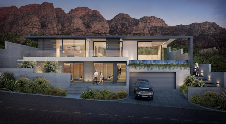 Casas minimalistas por GSQUARED architects Minimalista Alumínio/Zinco