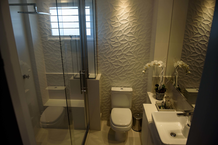Join Arquitetura e Interiores Modern style bathrooms