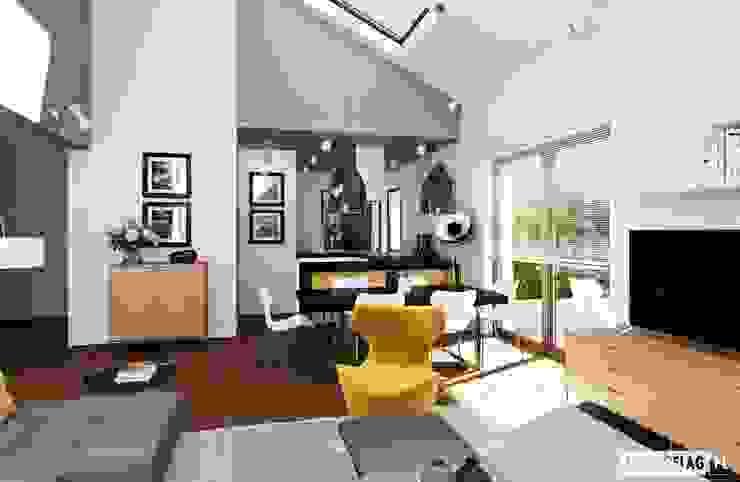 Phòng khách by Pracownia Projektowa ARCHIPELAG