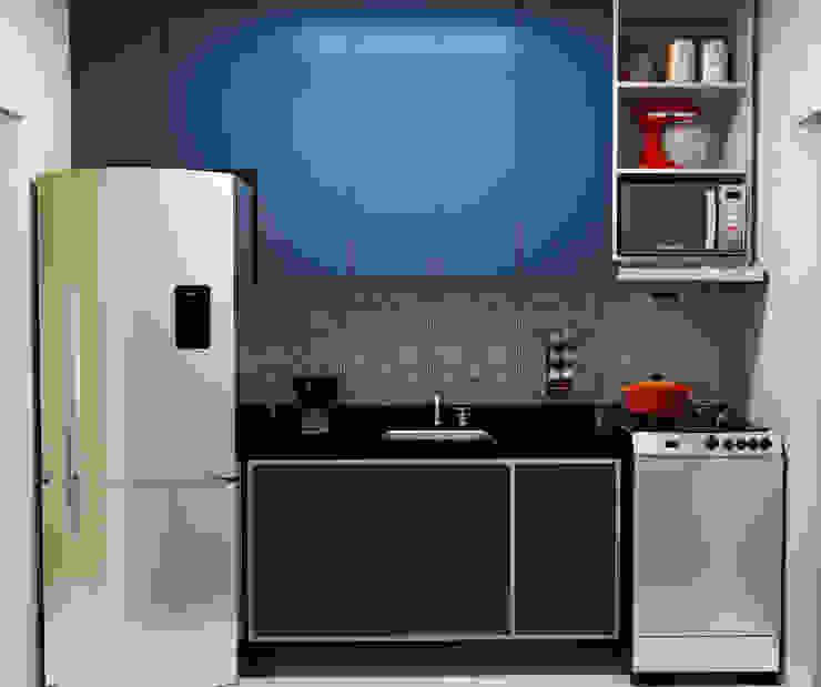 Karine Venceslau Arquitetura Cocinas de estilo moderno Azul