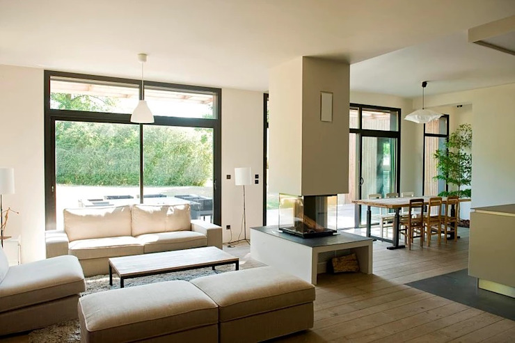 Ruang Keluarga Modern Oleh Rusticasa Modern Kayu Wood effect