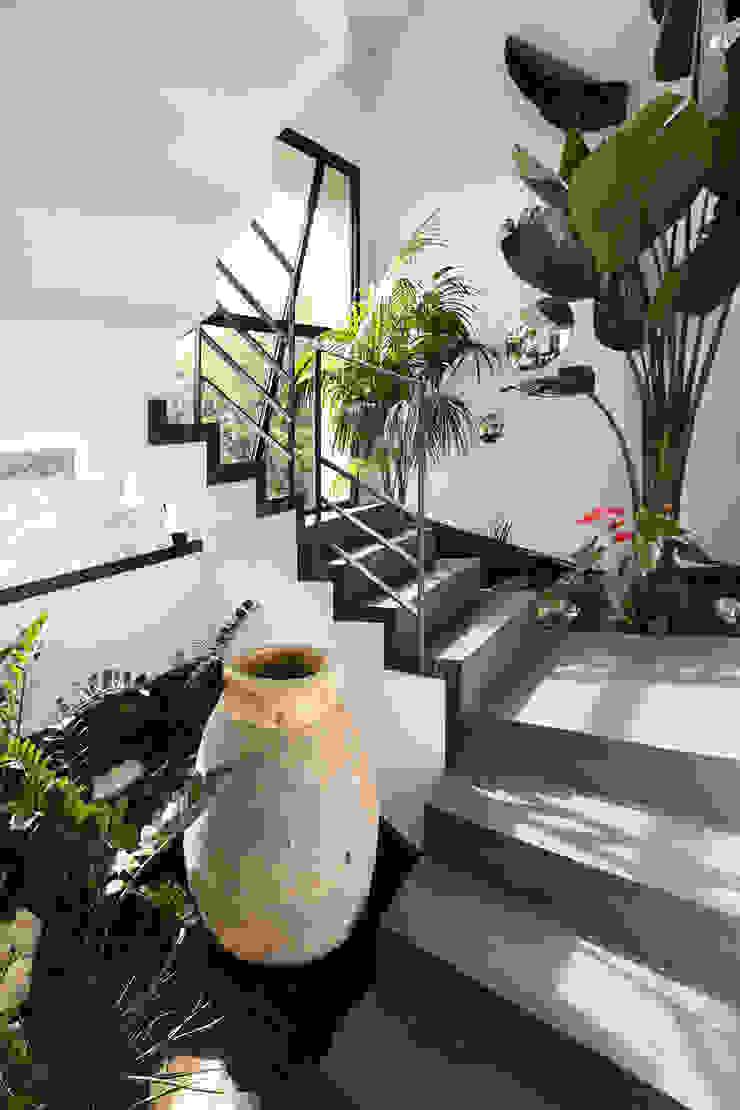 地中海走廊,走廊和楼梯 根據 Atelier Jean GOUZY 地中海風