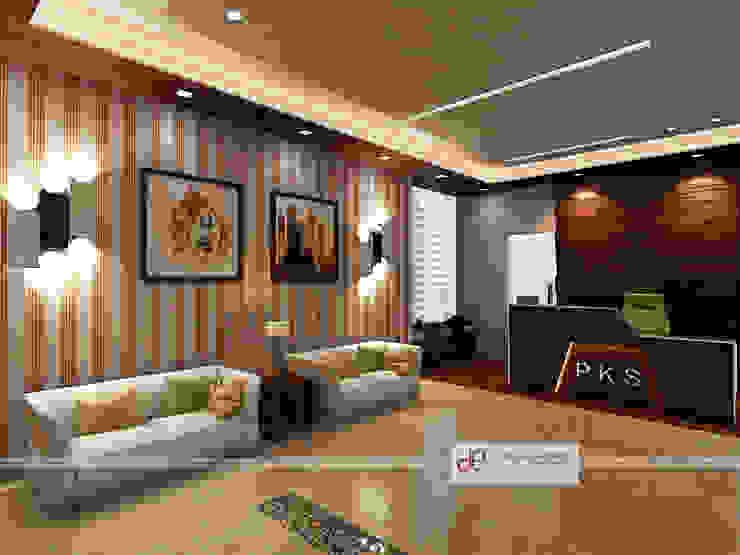 PKS Office Noida Sec-63 Modern offices & stores by Design Essentials Modern