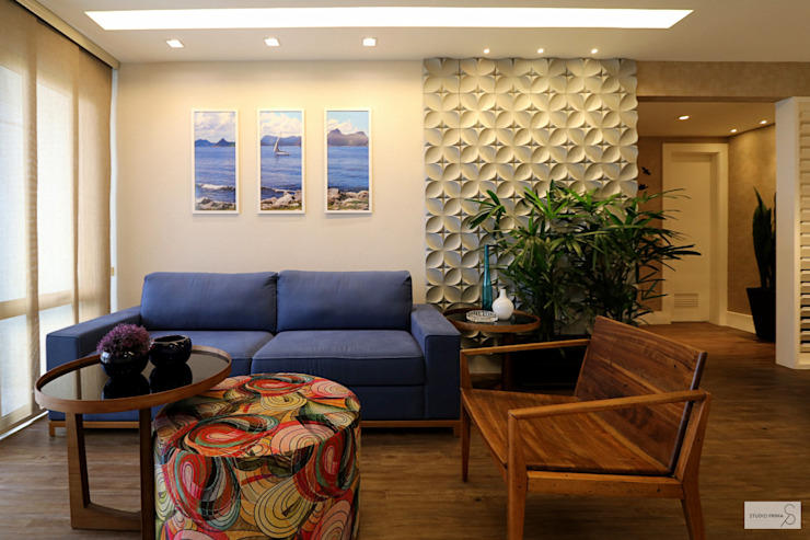 Sala de estar Studio Prima Arq & Design Salas de estar tropicais