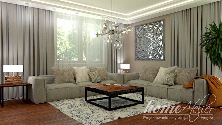 Colonial style living room by Home Atelier Colonial
