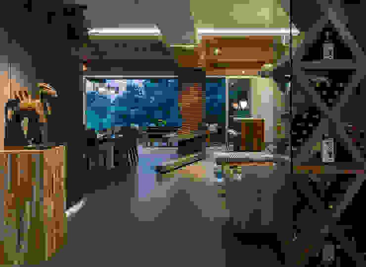 PROYECTO: DEPARTAMENTO TORRE MURANO BARDASANO ARQUITECTOS Salas de estilo moderno