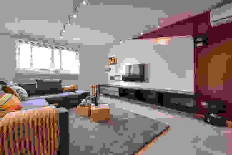 電視牆 根據 存果空間設計有限公司 隨意取材風