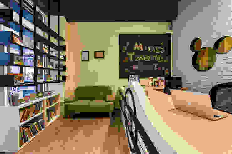 接待區 Eclectic style offices & stores by 存果空間設計有限公司 Eclectic