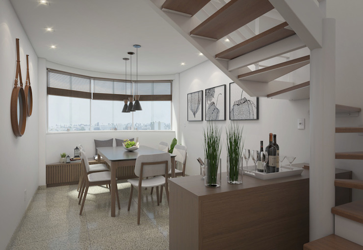 Comedores de estilo moderno de Filipe Castro Arquitetura | Design Moderno Granito