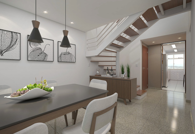 Filipe Castro Arquitetura | Design Modern dining room Metal White