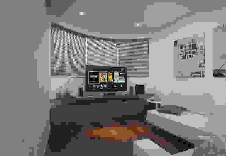 Salas de estilo minimalista de Filipe Castro Arquitetura | Design Minimalista Madera Acabado en madera