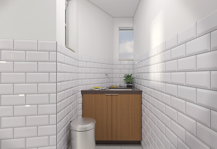 Filipe Castro Arquitetura | Design Modern kitchen Ceramic White