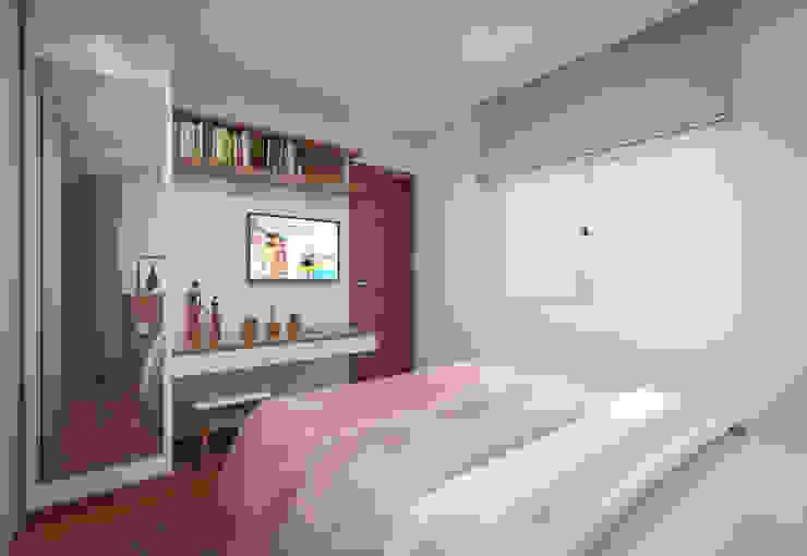Filipe Castro Arquitetura | Design Modern style bedroom MDF White