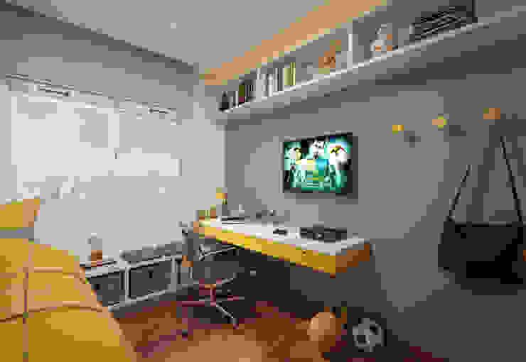 Quarto do Filho Filipe Castro Arquitetura | Design Quarto infantil moderno MDF Amarelo
