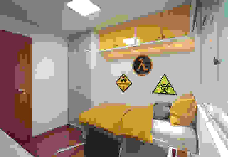 Filipe Castro Arquitetura | Design Modern nursery/kids room MDF Yellow