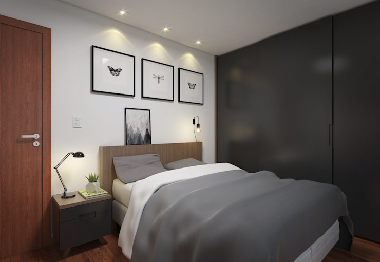 Quarto de Casal Quartos modernos por Filipe Castro Arquitetura | Design Moderno MDF