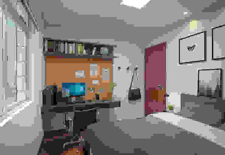 Filipe Castro Arquitetura | Design Modern style bedroom MDF Black
