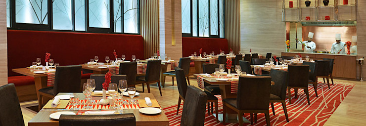 Restaurants Modern bars & clubs by Zeba India Pvt. Ltd. Modern