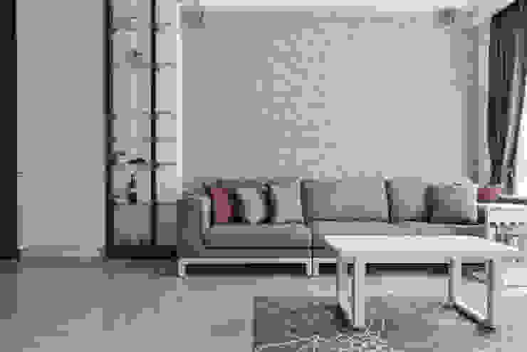 沙發背牆 现代客厅設計點子、靈感 & 圖片 根據 存果空間設計有限公司 現代風
