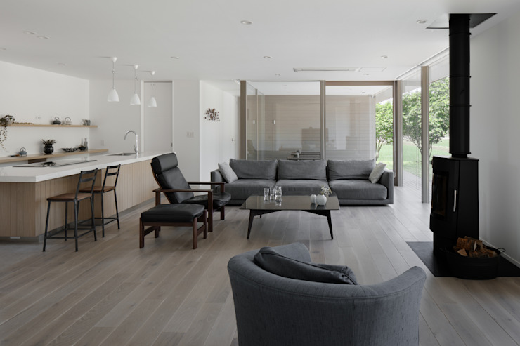 Modern living room by atelier137 ARCHITECTURAL DESIGN OFFICE Modern Wood Wood effect