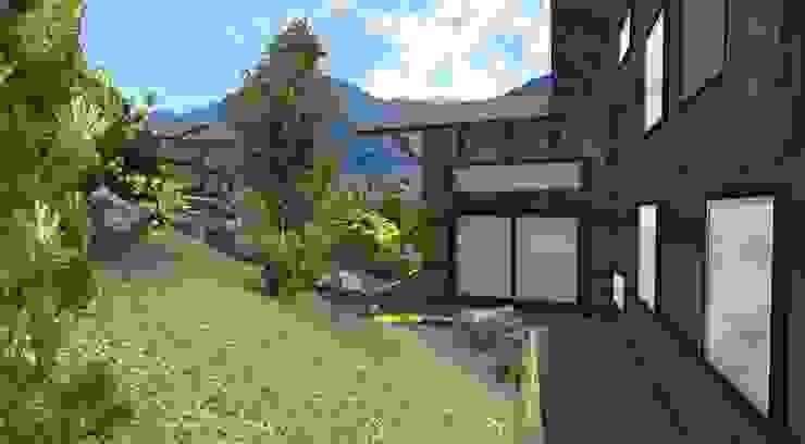 Jardin de montagne Jardin rustique par Anthemis Bureau d'Etude Paysage Rustique