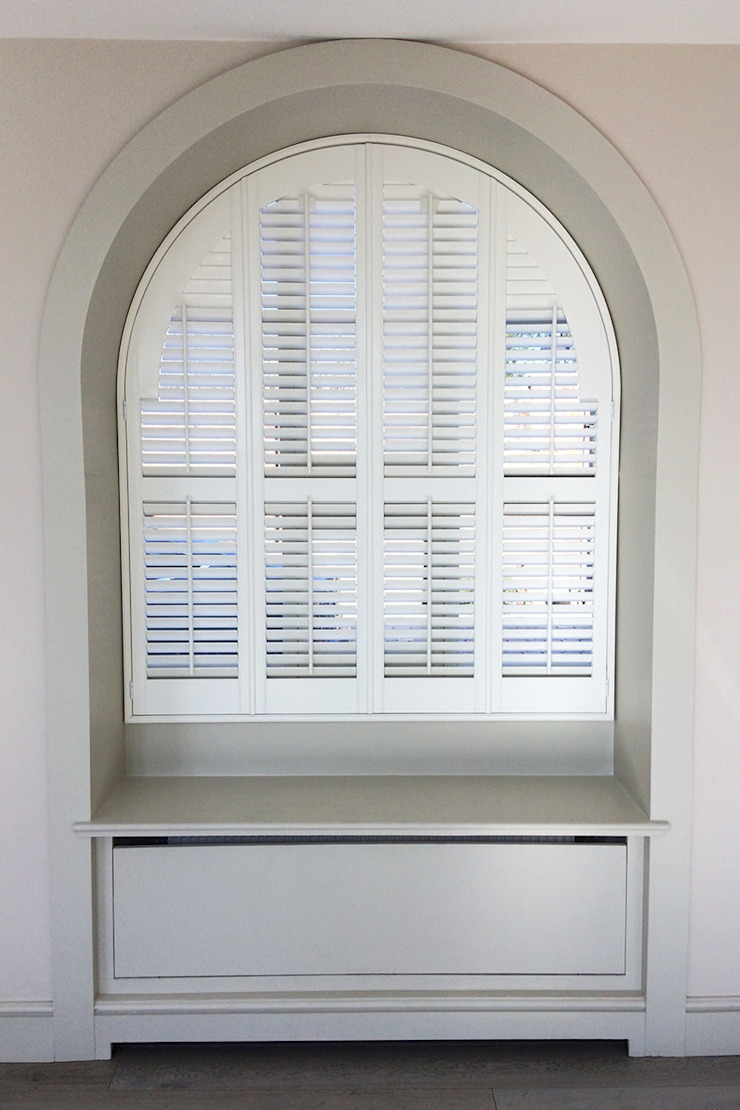 Full Height Shutters For Arched Windows: classic  by Plantation Shutters Ltd, Classic Wood Wood effect
