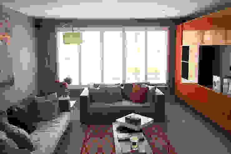 Full Height Shutters For Living Room: modern  by Plantation Shutters Ltd, Modern Wood Wood effect
