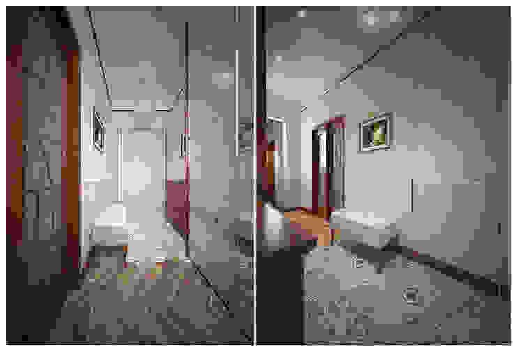 студия Виталии Романовской Classic style corridor, hallway and stairs