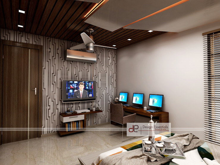 Villa at Jay Pee Greens Greater Noida Modern style bedroom by Design Essentials Modern Plywood