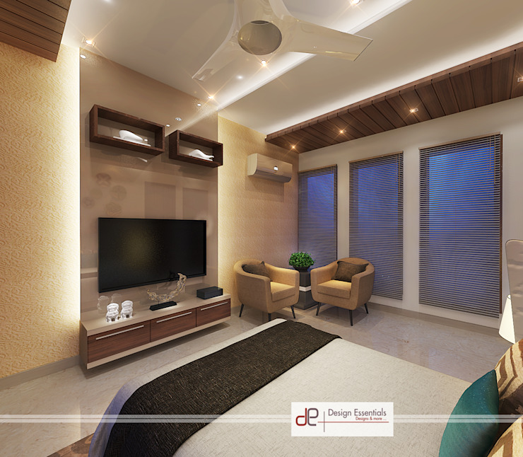 Villa at Jay Pee Greens Greater Noida Minimalist bedroom by Design Essentials Minimalist Plywood