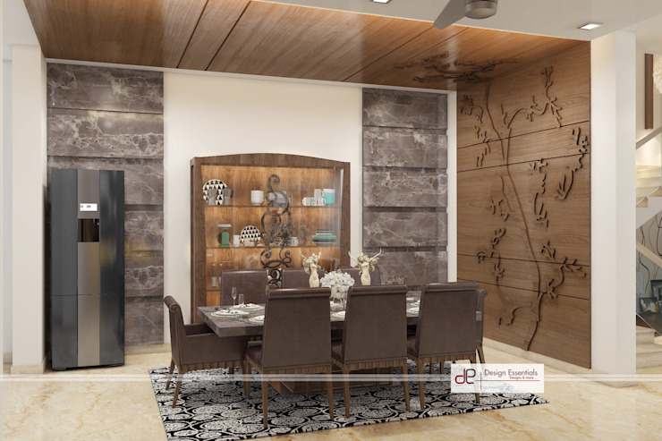 Villa at Jay Pee Greens Greater Noida Modern dining room by Design Essentials Modern Stone