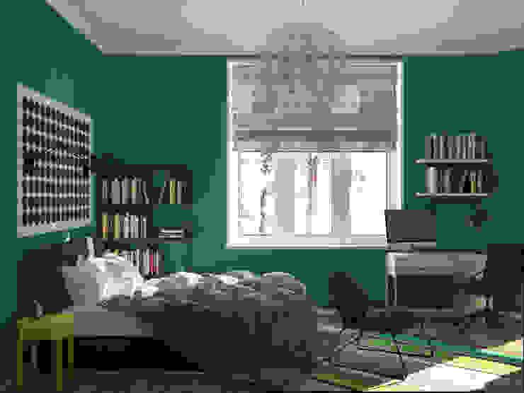 Phòng ngủ phong cách Bắc Âu bởi JoinForces studio Bắc Âu