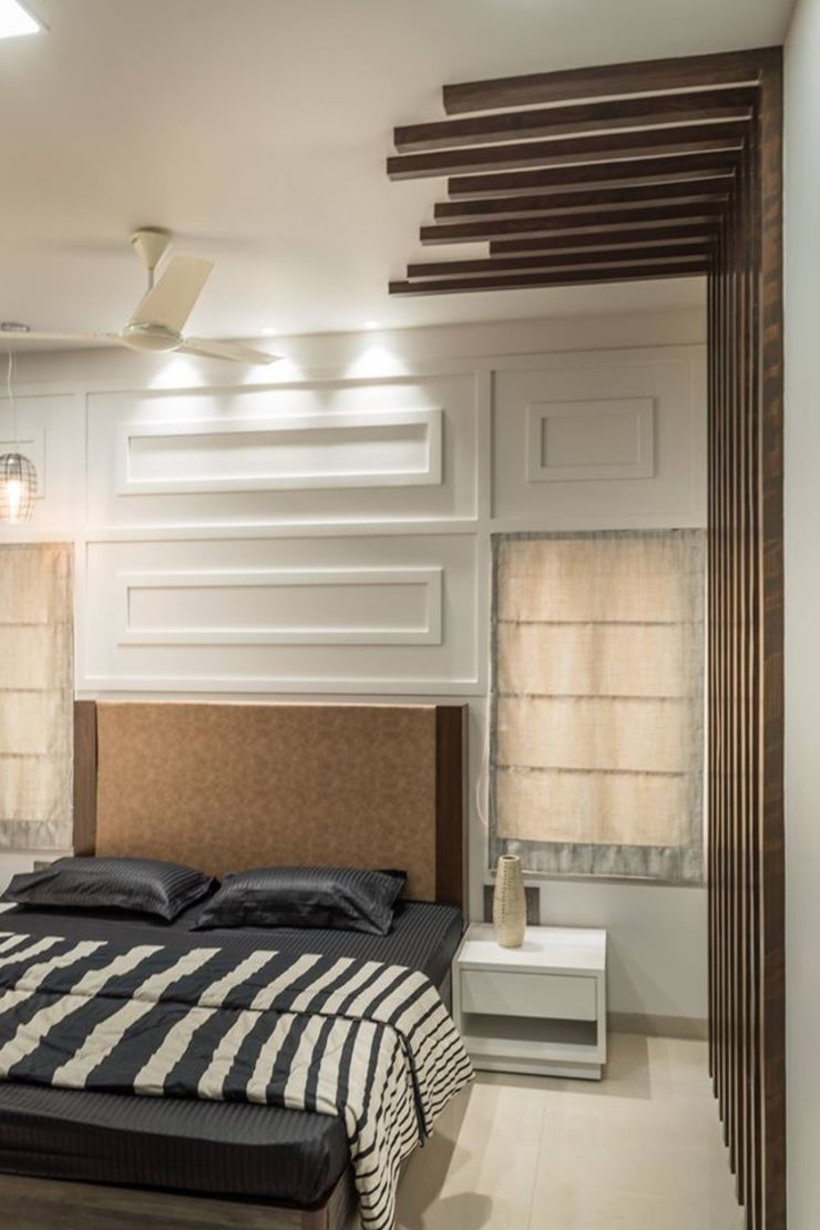 Rishi Villa—Pune Modern style bedroom by Aesthetica Modern