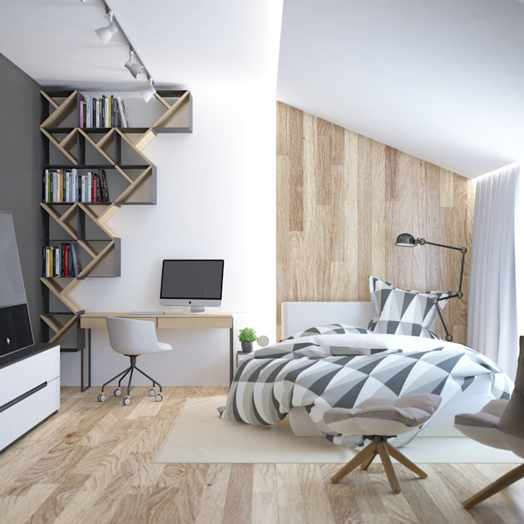 Minimalist bedroom by JoinForces studio Minimalist