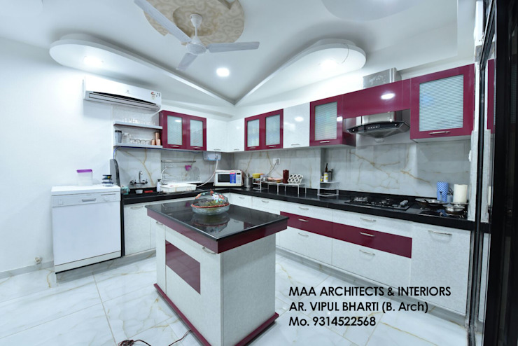 M.M Mehta Ji Modern kitchen by MAA ARCHITECTS & INTERIOR DESIGNERS Modern