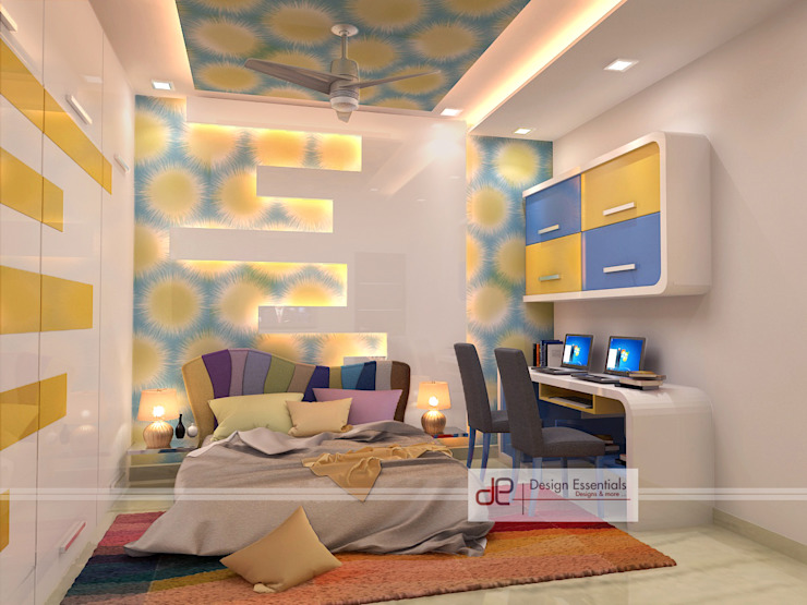 Residence at Rohini, New Delhi Modern nursery/kids room by Design Essentials Modern Plywood
