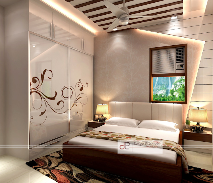 Residence at Rohini, New Delhi Modern style bedroom by Design Essentials Modern Plywood