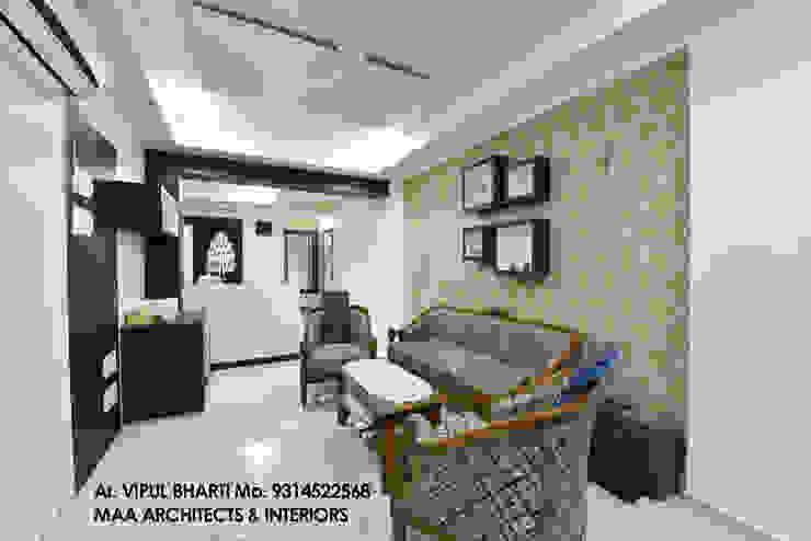 M.M Mehta Ji Modern living room by MAA ARCHITECTS & INTERIOR DESIGNERS Modern