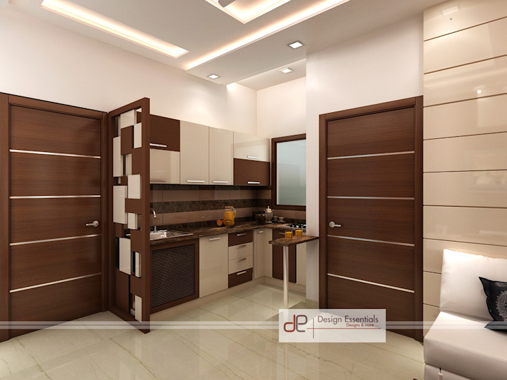 Residence at Rohini, New Delhi Modern kitchen by Design Essentials Modern Plywood