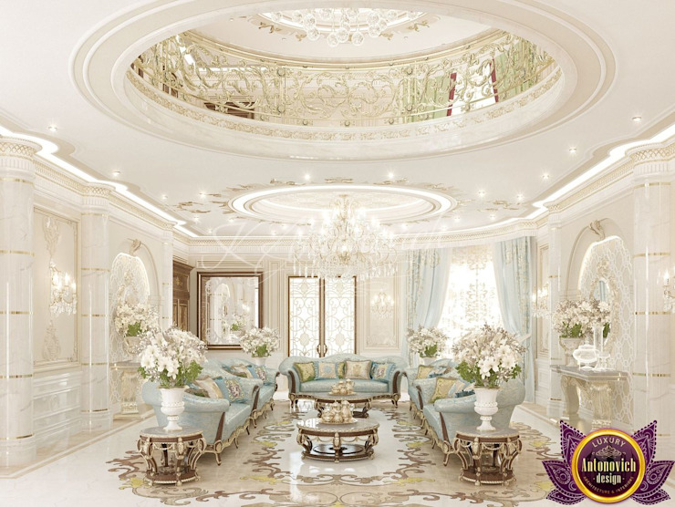  House Interior Design of Luxury Antonovich Design Classic style corridor, hallway and stairs by Luxury Antonovich Design Classic