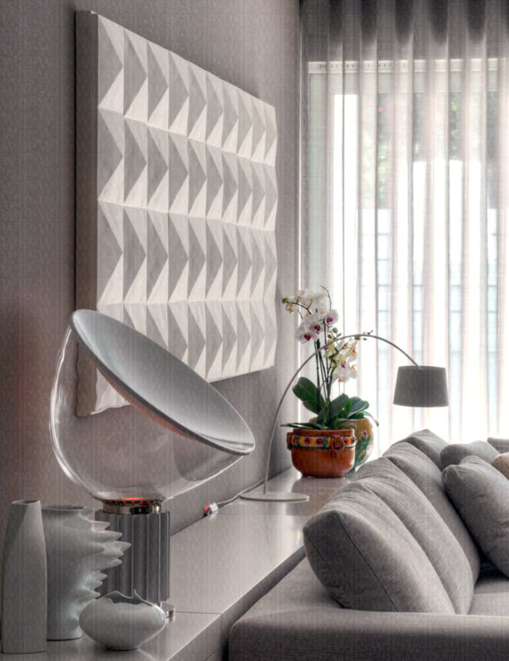 Detail Lighting of Living Room Modern Living Room by INAIN Interior Design Modern