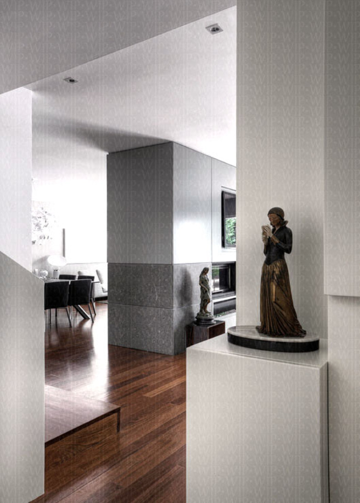 Hallway Modern Corridor, Hallway and Staircase by INAIN Interior Design Modern